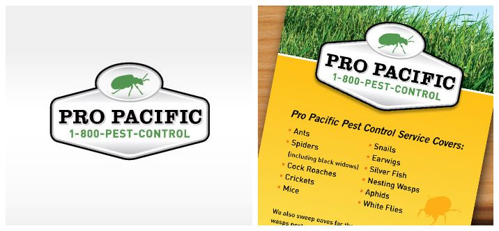 Pro Pacific Pest Control Branding Logo And Flyer Design Pest Control Pest Control Services Branding