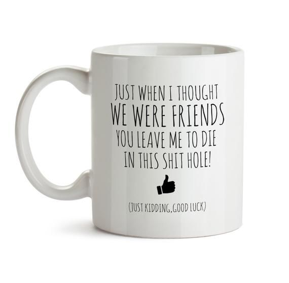 e4159b6a5ba4 Coworker Leaving Gift Funny Good Bye Gift For Colleague Mug Farewell Gift  For Coworker Friend Bye Gift For Coworker Departing Gift Mug.