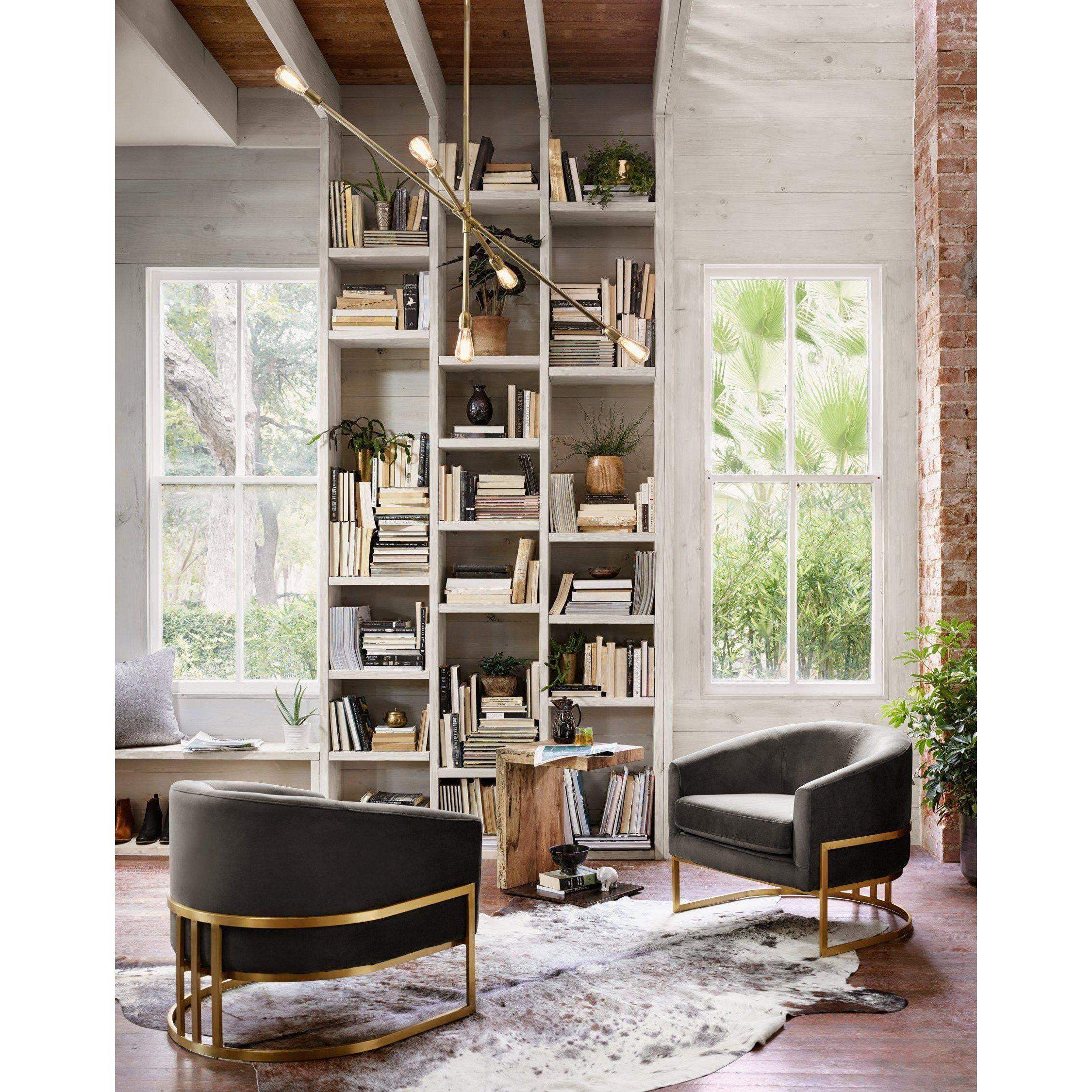 Corbin Velvet Chair (Bella Smoke) - Ashford Collection