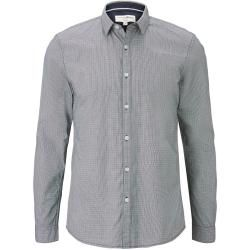 Photo of Tom Tailor Denim men's shirt with all-over print, gray, patterned, size S Tom TailorTom Tailor