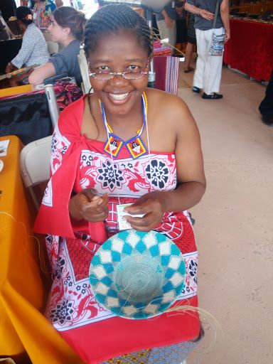 Thembi was featured on the Martha Stewart blog. This is her weaving a basket while at the Sante Fe International Folk Art Market.