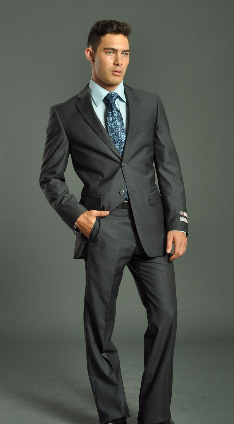 charcoal suit with different colored vest - Google Search | Suits ...