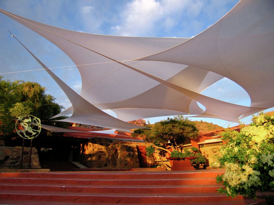 Guildworks shade rain and visual structures deco ideas for Sun shade structure