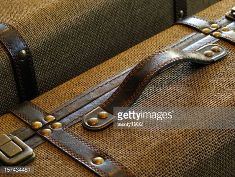 Stock Photo : Suitcases Baggage Travel Vintage Close Up