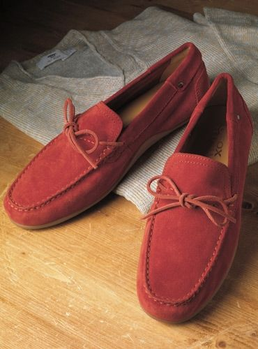 gramática a nombre de Cancelar  The Geox Moccasin Style Driver in Red Suede | Moccasins style, Red suede, Moccasins  mens