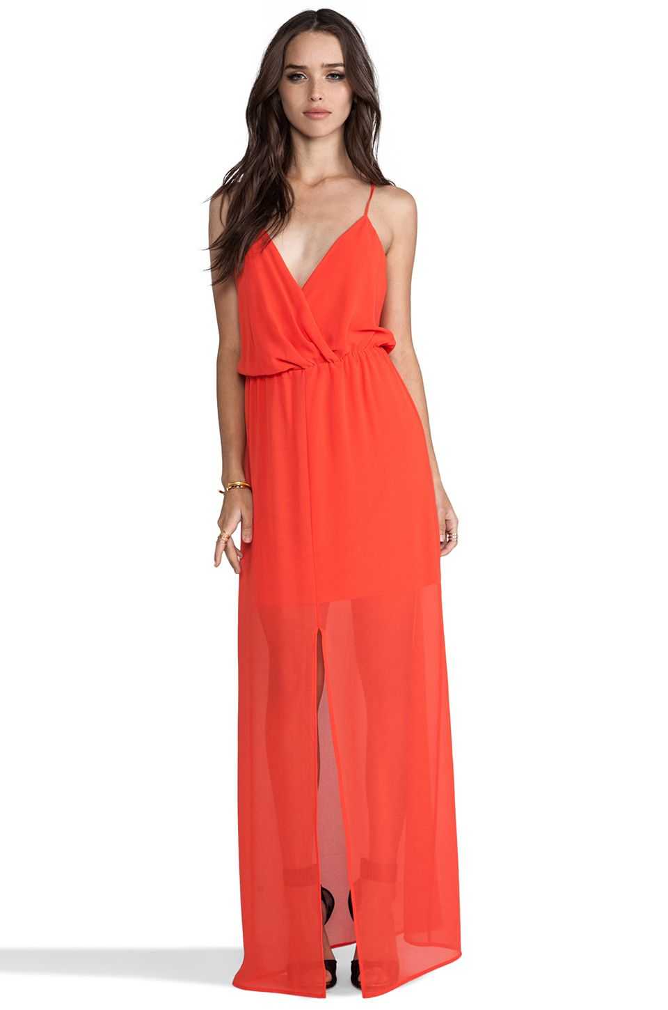 7677022bc491 Jill Jill Stuart Colorblock Popover Crepe Gown available at #Nordstrom |