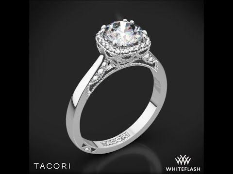 Tacori 2620RDSM Dantela Crown Solitaire Engagement Ring | 2716 | www.goldcasters.com