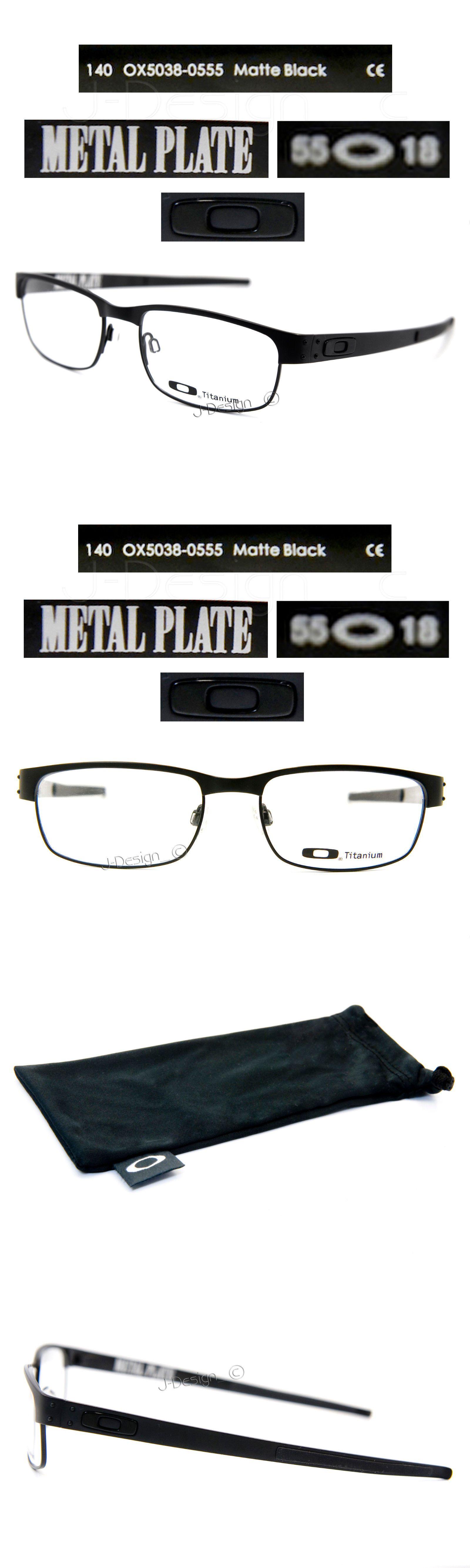 b03c6f947a9 Eyeglass Frames 180957  Oakley Metal Plate Ox5038-0555 Matte Black Titanium  Eyeglasses 55 18