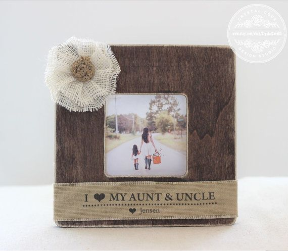 Aunt Uncle Auntie Gift Personalized Picture Frame Gift Custom Frame ...