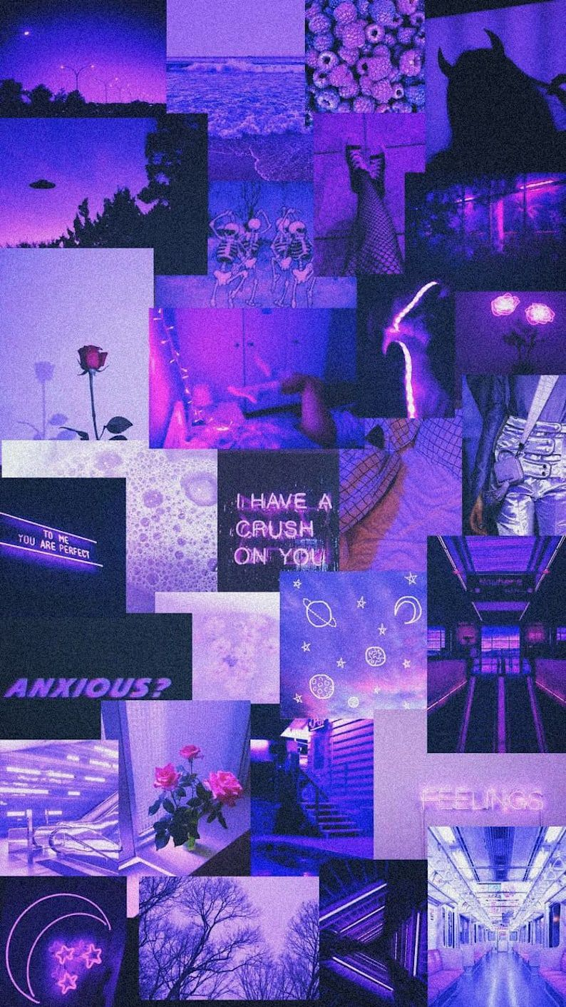 Purple photo collage
