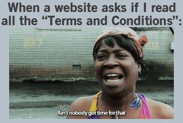 Tickled 105 Ain T Nobody Got Time For That Terms And Conditions