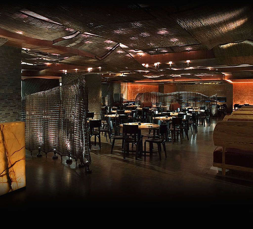 restaurant design |  dining room interior design of nobu fifty