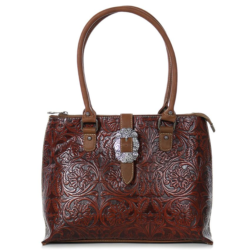 Trinity Ranch Women's Tooled Leather Handbag