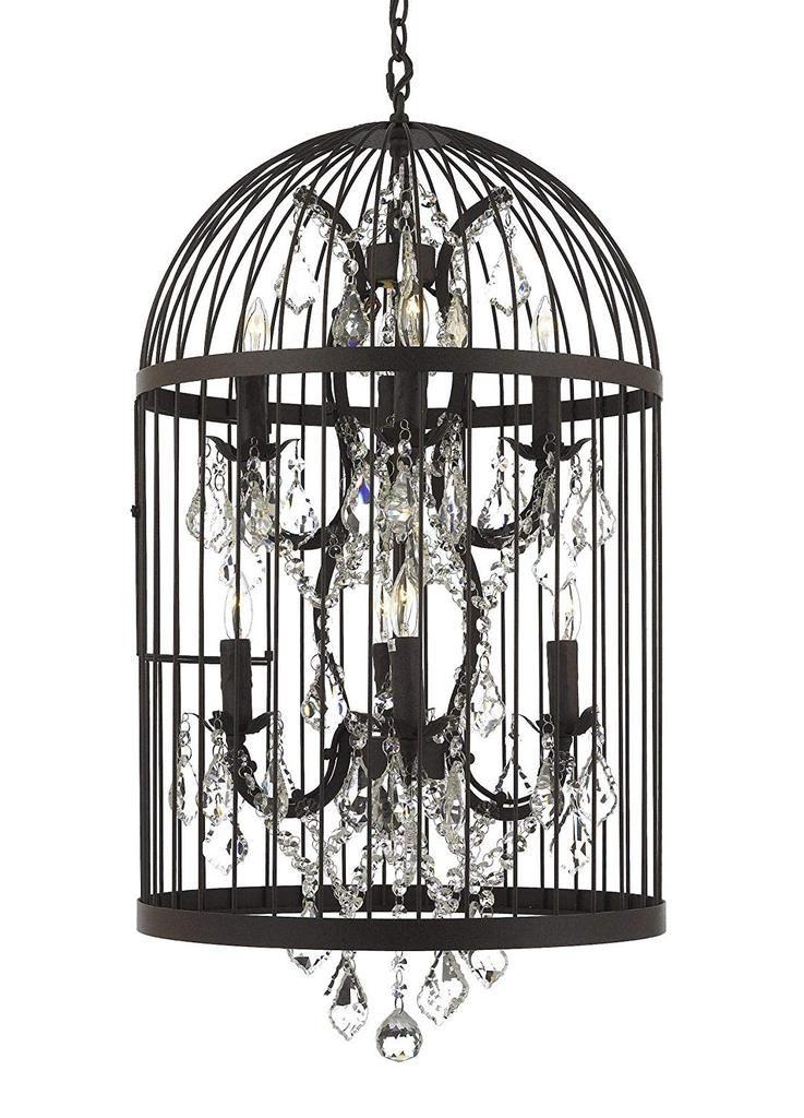 8 Light Castile Birdcage Chandelier Lighting Rust Finish Pendant T20 Gallery Chandeliers Birdcage Chandelier Birdcage Light Chandelier