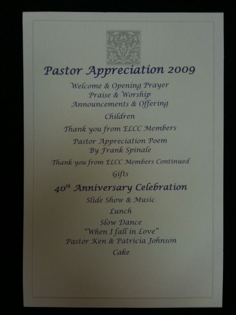 Program Idea Pastors Appreciation Pastor Appreciation Month Pastor Anniversary