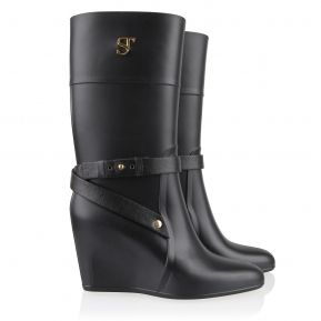 Wedgyrain Boots Black Supertrash