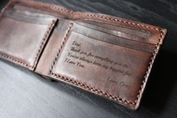 Men's Leather Wallet / Personalized Leather