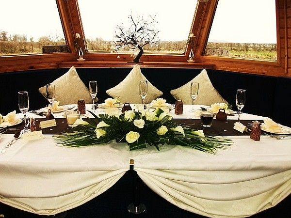 Canal Boat Wedding Event Head Table