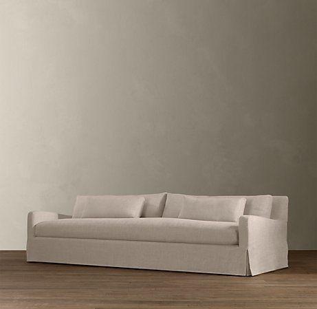 8 Belgian Slope Arm Slipcovered Sleeper Sofa Sofa