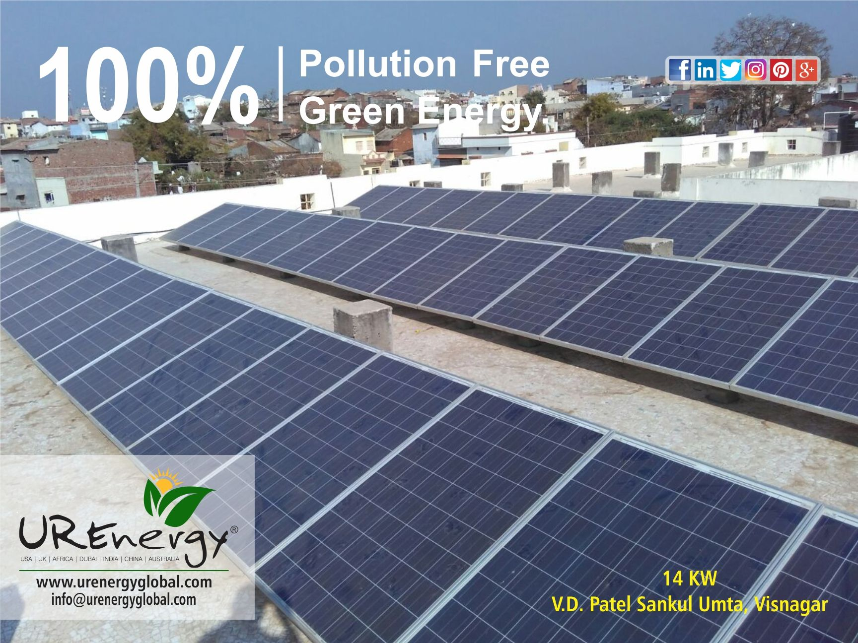 100 Pollution Free Green Energy Urenergy Solar Projects Roof Solar Panel Green Energy