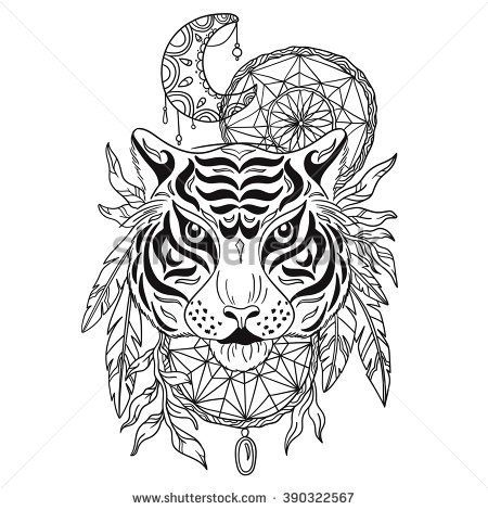 detailed dream catcher coloring pages - photo#24