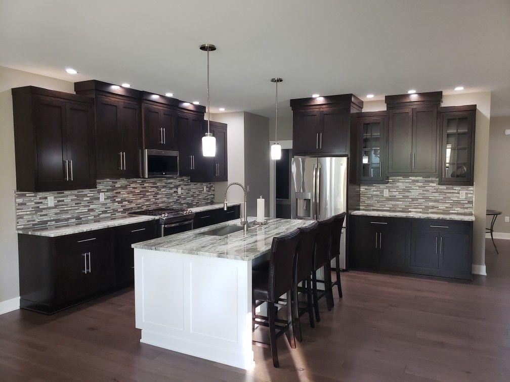 java and brite white cabinets two tone kitchen new homes kitchen on kitchen cabinets java id=80790