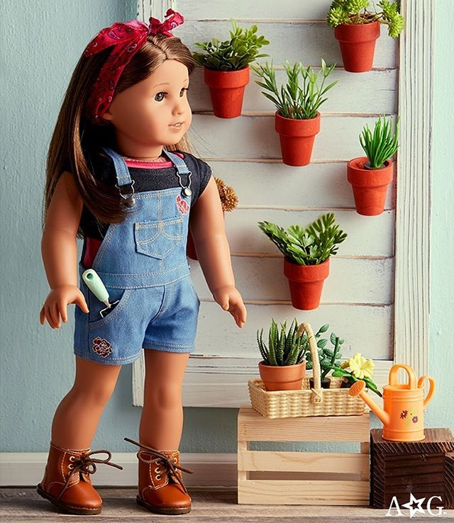 "Official American Girl on Instagram: ""From gardening in the sunshine to exploring the farmers' market, we put together an #OOTD outfit that's perfect for enjoying the outdoors!…"""