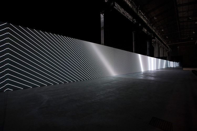 Carsten Nicolai 1   A 130-Foot Display For Mesmerizing Monochrome Abstractions   Co.Design: business + innovation + design