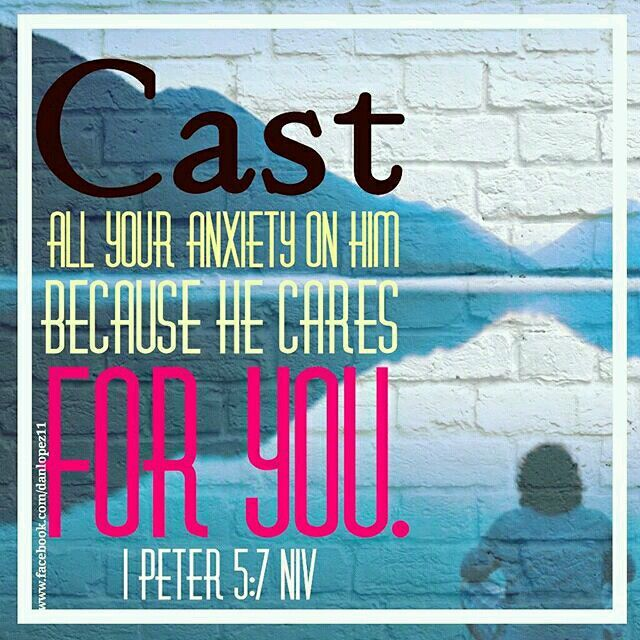 1 Peter 5:7 (NIV) Cast all your anxiety on him because he cares for you.   #BibleVerseOfTheDay  #VerseOfTheDay  #CastAllYourCares