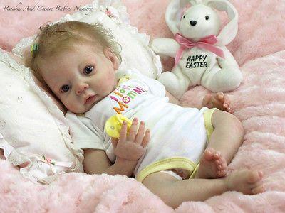 "Reborn Baby Doll Kits Soft Vinyl Head 3//4 Limbs for 19-20/"" Newborn Alive Dolls"