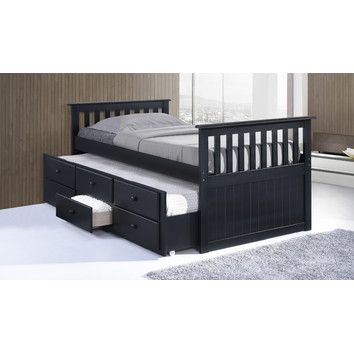 You'll love the Marco Island Captain's Bed with Trundle Bed and Drawers at Wayfair - Great Deals on all Baby & Kids  products with Free Shipping on most stuff, even the big stuff.