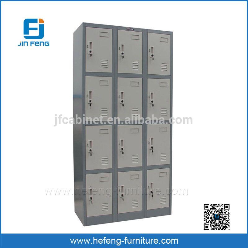 China Factory Supply 12 Door Metal Gym Lockers Wardrobe