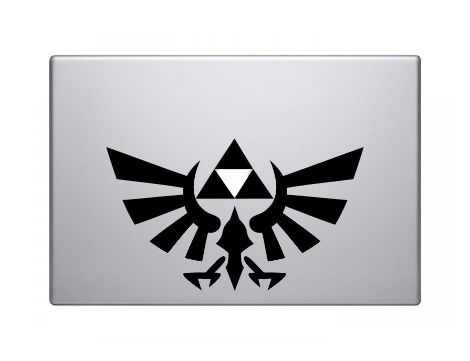 Legend Of Zelda Triforce Custom MacBook Decal Via Etsy - Custom vinyl decals for macbook pro