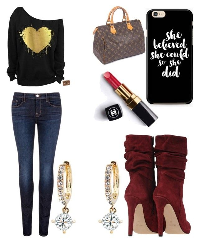 """""""Untitled #9014"""" by ohnadine on Polyvore featuring Louis Vuitton, Chanel and J Brand"""