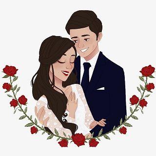Ilustra Andressa E Eduardo Por Lelehorta Ilustracao De Casamento Casamento Desenho Arte Do Casamento