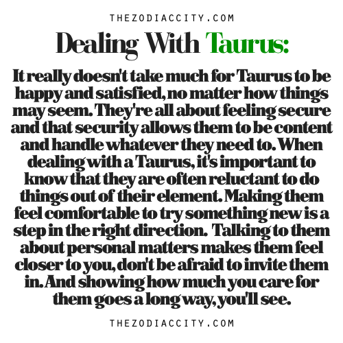 Dealing with a taurus woman
