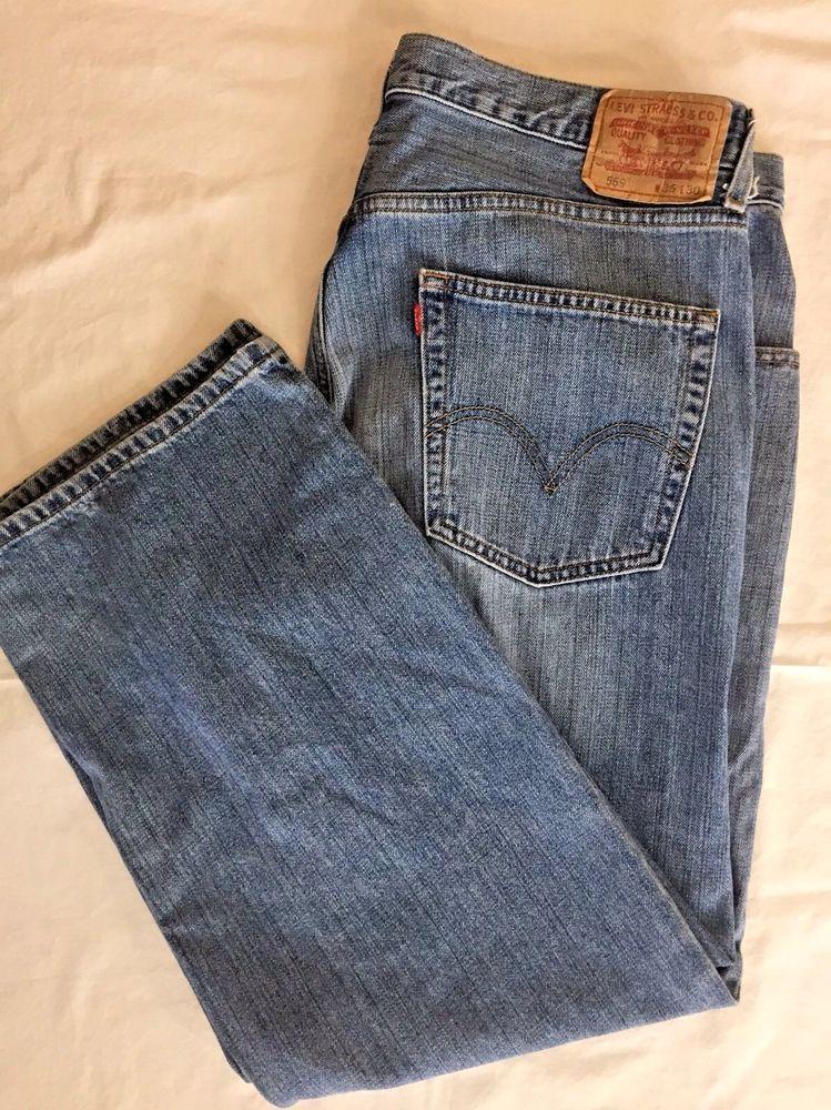 2082e915e33 Levis 569 Loose Straight Jeans 36 x 28 Denim Mens Levi Blue Jeans #Levis  #BaggyLoose