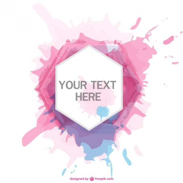 Download Paint Splatter Hexagon Frame For Free Vector Free Free Vector Art Design Freebie