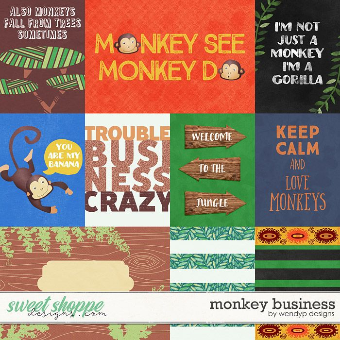 Monkey Business - Cards by WendyP Designs | WendyP Products ...