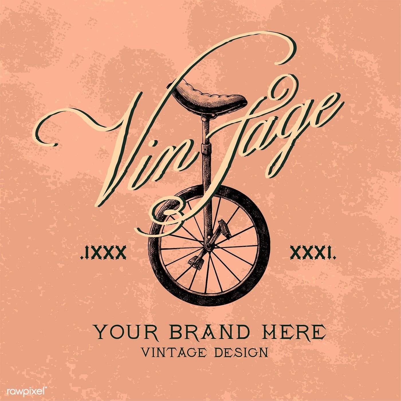 Vintage brand logo design vector free image by rawpixel