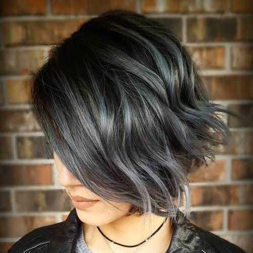 60 Most Beneficial Haircuts For Thick Hair Of Any Length Silver Highlights Black Bob And Bobs