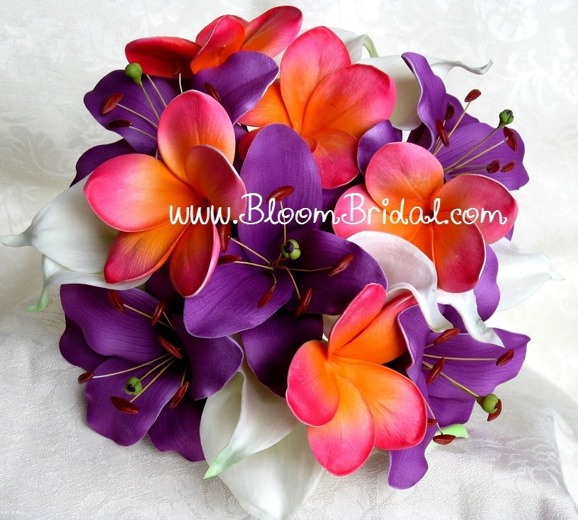 Plumeria Collection Real touch Calla Lilies Lilies