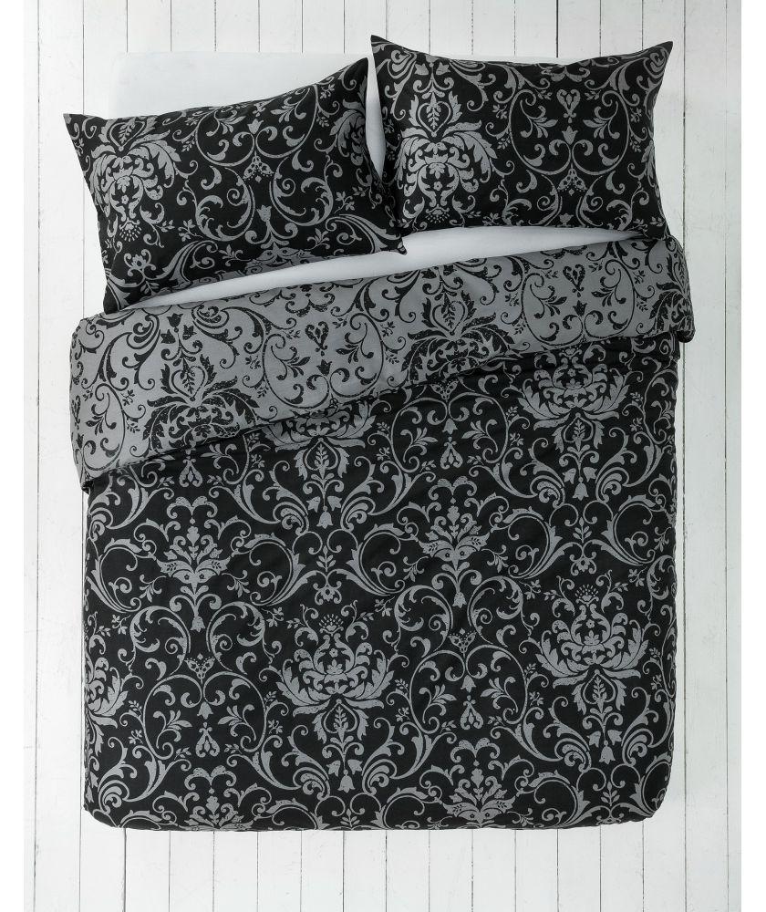 Buy Black And Grey Damask Bedding Set Kingsize At Argos Co Uk