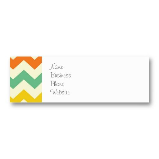 Citrus lime green orange yellow chevron zigzags business card citrus lime green orange yellow chevron zigzags business card templates sold on zazzle reheart Gallery