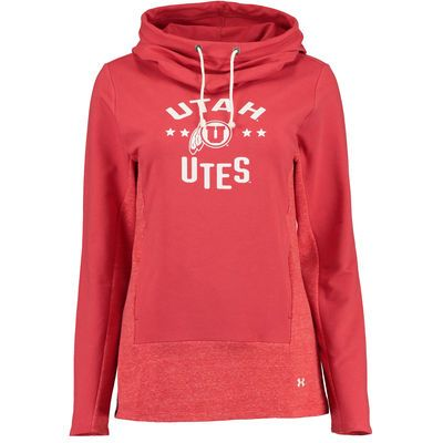 78992a443a24 Women s Under Armour Red Utah Utes Performance Hoodie