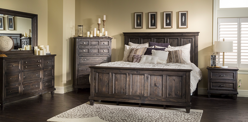 Magnussen Home Calistoga King Panel Bed In Weathered Charcoal