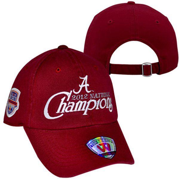 Top Of The World Alabama Youth 2012 Bcs National Champions Adjustable Hat Alabama Crimson Tide Hat Alabama Crimson Tide Alabama