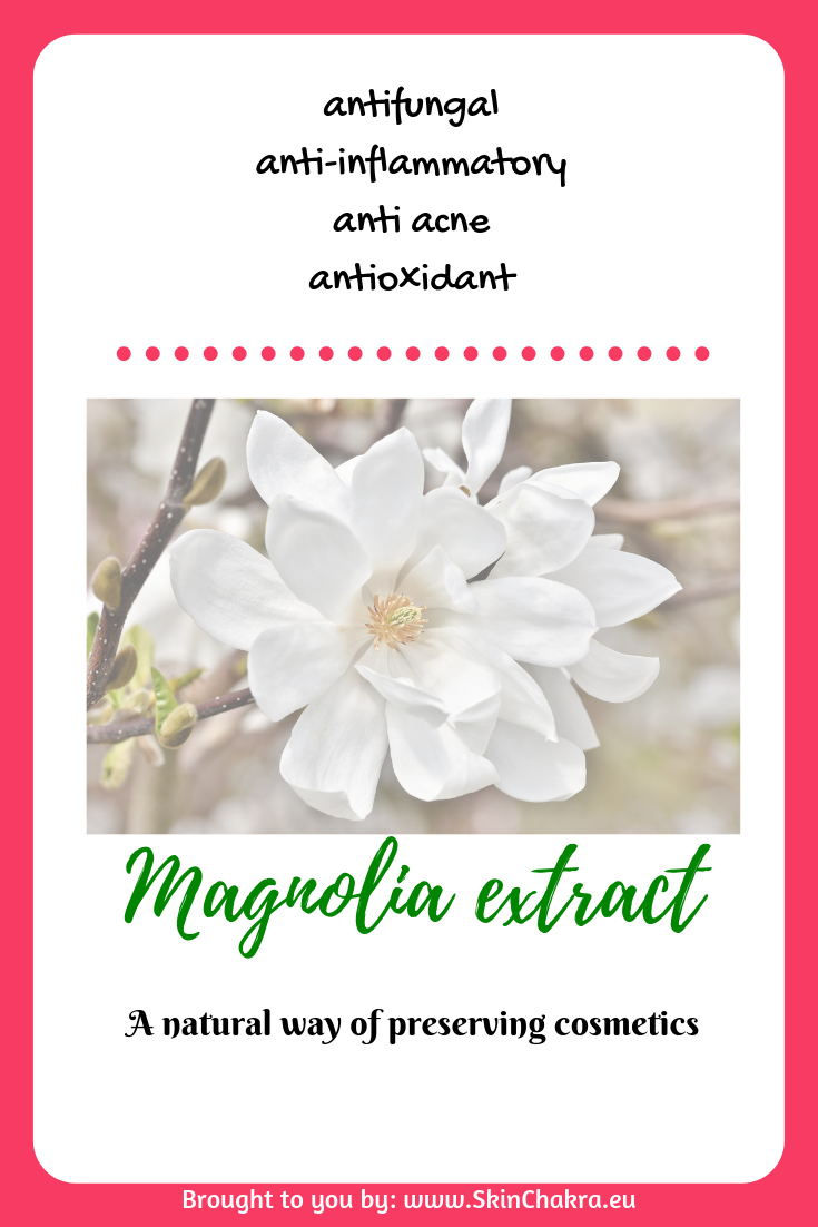 Magnolia Extract Antioxidant Alternative Preservative Natural Preservative Anti Acne How To Use Magnol Cosmetics Ingredients Anti Acne Anti Frizz Products