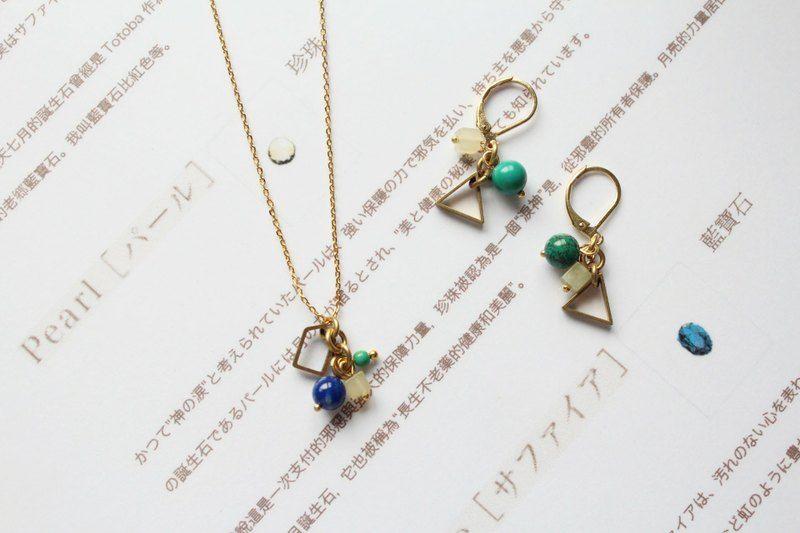 祖母綠 了 Candy Necklace 青金石 土耳其石項鍊 祖母綠了emerald3 項鍊 Pinkoi Earrings Jewelry Necklace