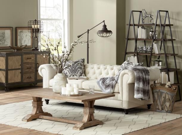 charming living room floor lamp. The soft side of industrial as seen in this charming living room  Lighting